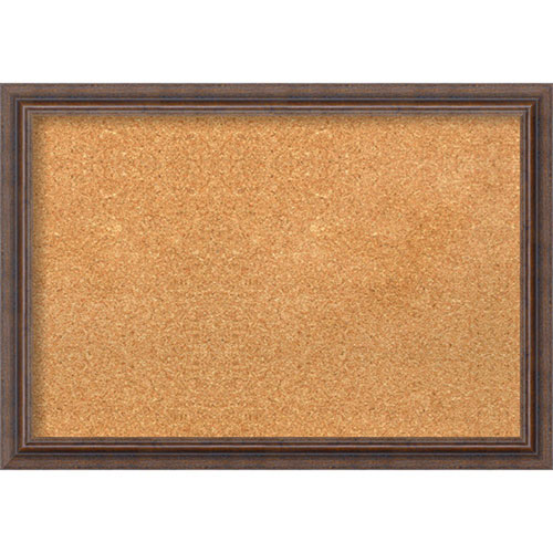 Amanti Art Distressed Rustic Brown, 27 In. x 19 In. Message Board