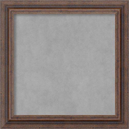 Amanti Art Distressed Rustic Brown, 15 In. x 15 In. Magnetic Board