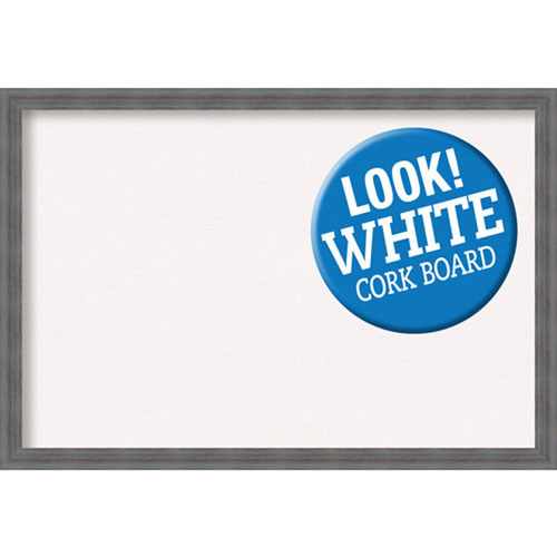 Dixie Grey Rustic, 38 In. x 26 In. White Cork Board