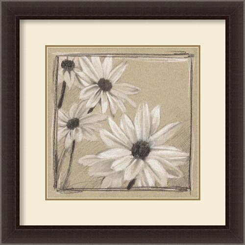 Amanti Art White Floral Study II by Ethan Harper, 26 In. x 26 In. Framed Art