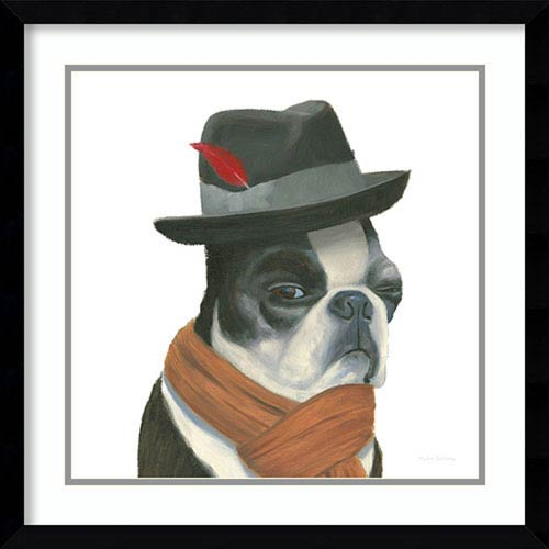 Amanti Art The Boys VIII Dog by Myles Sullivan, 21 In. x 21 In. Framed Art
