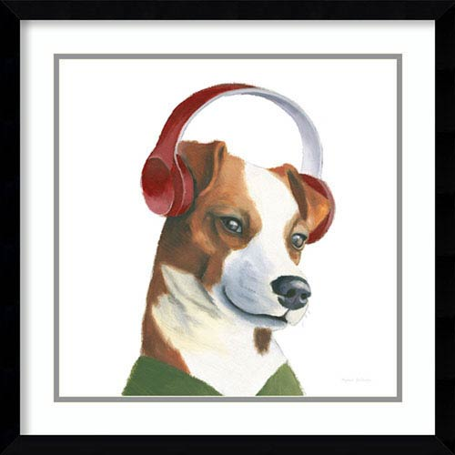 Amanti Art The Boys V Dog by Myles Sullivan, 21 In. x 21 In. Framed Art