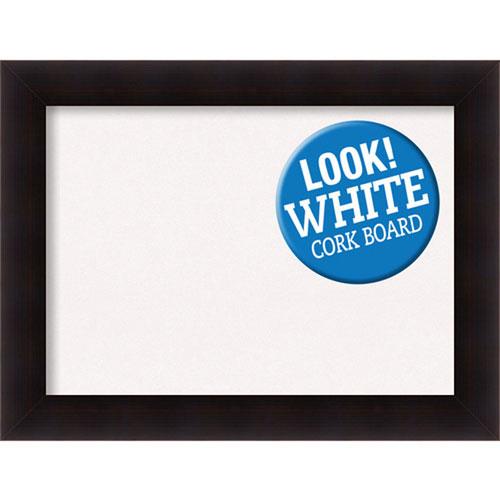 Amanti Art Portico Espresso, 34 In. x 26 In. White Cork Board