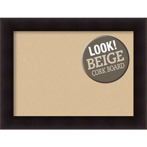 Amanti Art Portico Espresso, 34 In. x 26 In. Beige Cork Board