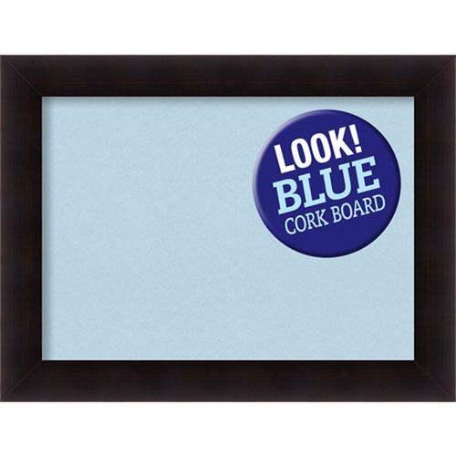 Amanti Art Portico Espresso, 34 In. x 26 In. Blue Cork Board