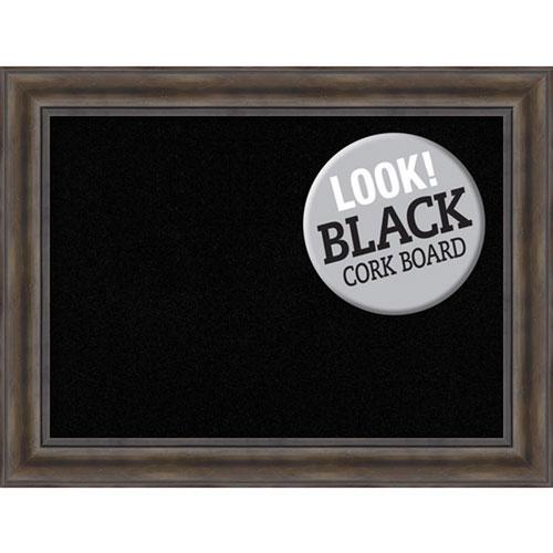 Amanti Art Rustic Pine, 34 In. x 26 In. Black Cork Board