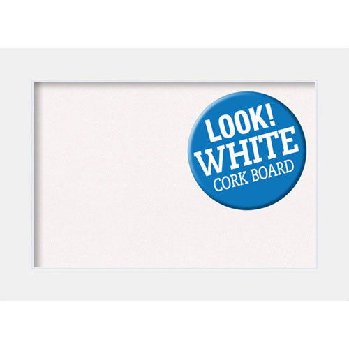 Amanti Art Corvino White, 29 In. x 21 In. White Cork Board