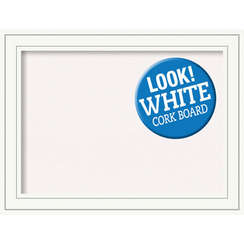 Amanti Art Craftsman White, 33 In. x 25 In. White Cork Board