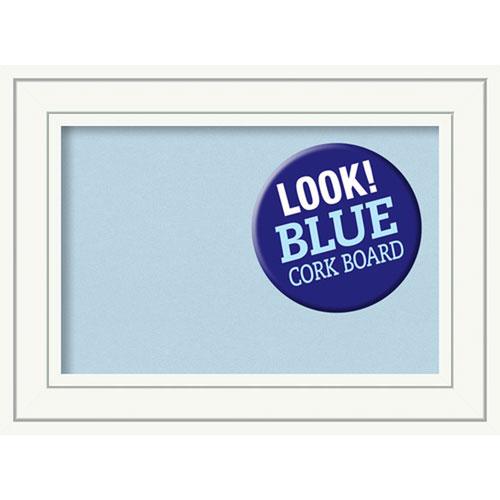 Amanti Art Craftsman White, 23 In. x 17 In. Blue Cork Board