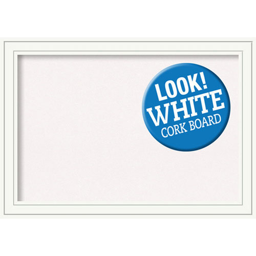 Amanti Art Craftsman White, 41 In. x 29 In. White Cork Board