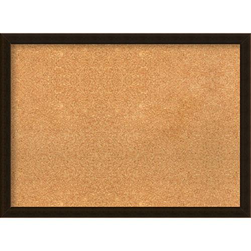 Amanti Art Espresso Brown, 30 In. x 22 In. Message Board