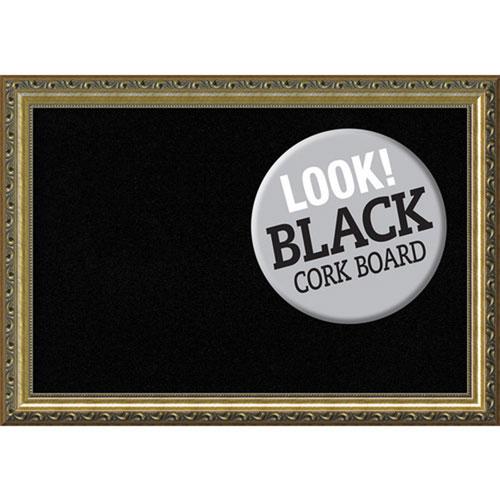 Amanti Art Parisian Bronze, 20 In. x 14 In. Black Cork Board
