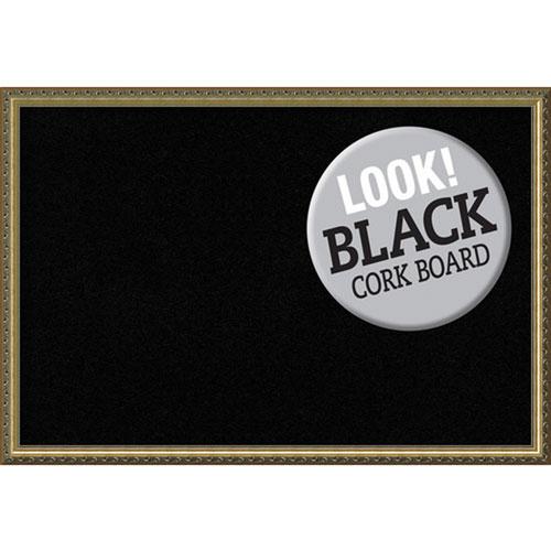 Parisian Bronze, 38 In. x 26 In. Black Cork Board