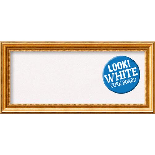 Amanti Art Townhouse Gold, 34 In. x 16 In. White Cork Board