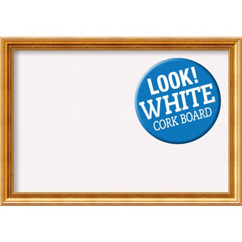 Amanti Art Townhouse Gold, 40 In. x 28 In. White Cork Board