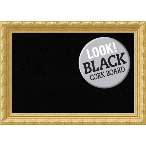 Amanti Art Versailles Gold, 28 In. x 20 In. Black Cork Board