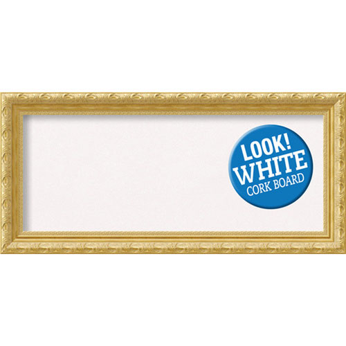 Amanti Art Versailles Gold, 34 In. x 16 In. White Cork Board