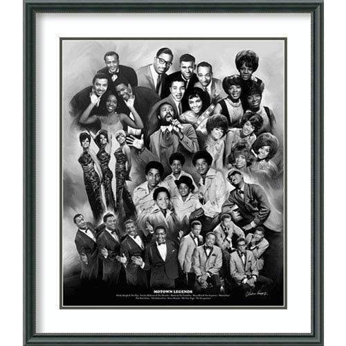 Amanti Art Motown Legends by Wishum Gregory, 27 In. x 31 In. Framed Art