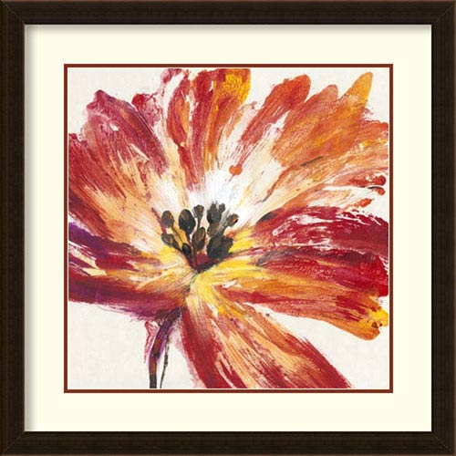 Amanti Art Fleur Rouge I by Tim OToole, 25 In. x 25 In. Framed Art
