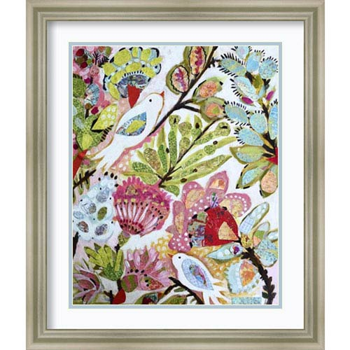 Paper Birds I by Karen Fields, 20 In. x 24 In. Framed Art