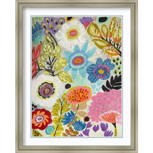 Secret Garden Floral I by Karen Fields, 24 In. x 30 In. Framed Art