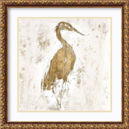 Amanti Art Gilded Heron I by Jennifer Goldberger, 22 In. x 22 In. Framed Art