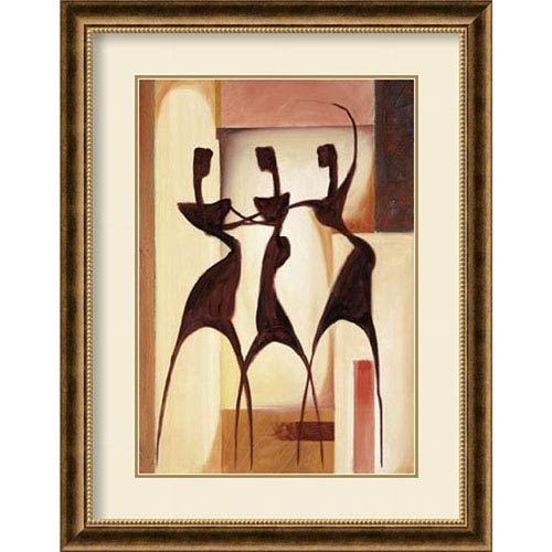 Amanti Art Island Ladies I by Alfred Gockel, 30 In. x 38 In. Framed Art