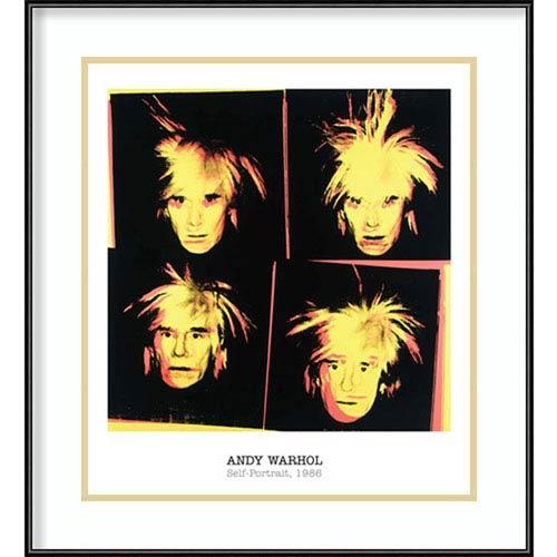 Self-Portrait, 1986 by Andy Warhol, 21 In. x 23 In. Framed Art