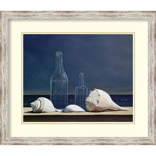 Seaglass and Shells by Daniel Pollera, 29 In. x 25 In. Framed Art