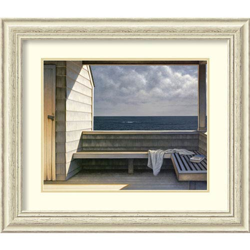 Sea Bench by Daniel Pollera, 29 In. x 25 In. Framed Art