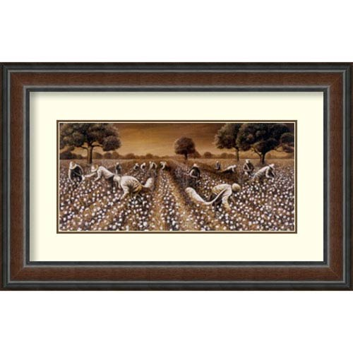 Amanti Art On Their Shoulders We Stand by Floyd Burns, 33 In. x 21 In. Framed Art