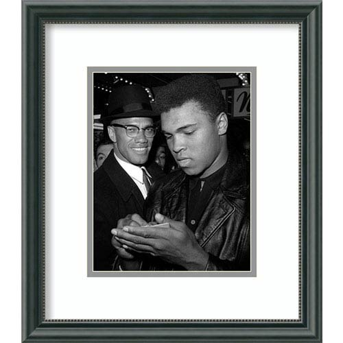 Muhammad Ali and Malcolm X, NYC, March 1, 1964 by McMahan Photo Archive, 15 In. x 17 In. Framed Art