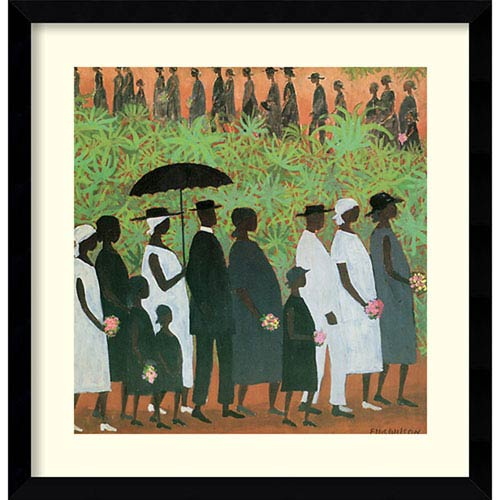 Funeral Procession by Ellis Wilson, 20 In. x 20 In. Framed Art