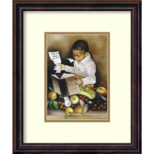 Amanti Art You Are What You Eat (His) by Edwin Lester, 13 In. x 16 In. Framed Art