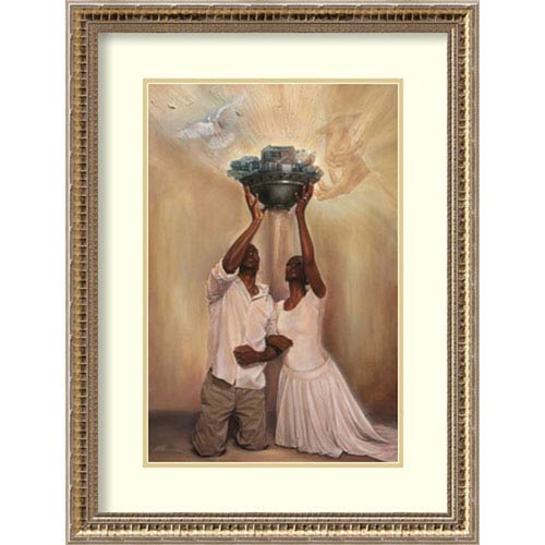 Give It All to God by WAK-Kevin A. Williams, 20 In. x 26 In. Framed Art