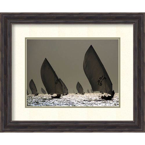Amanti Art Sailboat Silhouette by Y. Haider, 23 In. x 19 In. Framed Art