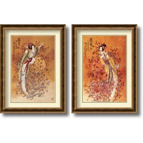 Amanti Art Wealth and Prosperity - Set by Chinese: 31.75 x 23.75 Print Reproduction
