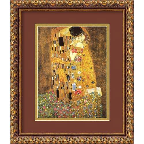 Amanti Art The Kiss (Le Baiser / Il Baccio), 1907 by Gustav Klimt: 13.88 x 16.88 Print Reproduction