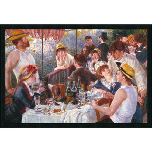 Amanti Art Luncheon of the Boating Party (Dejeuner Des Canotiers), 1881 by Pierre Auguste Renoir: 37 x 25 Print Reproduction