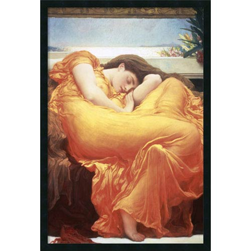 Amanti Art Flaming June by Lord Frederic Leighton: 25 x 37 Print Reproduction