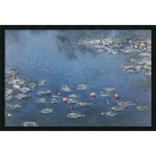 Amanti Art Waterlillies by Claude Monet: 37 x 25 Print Reproduction