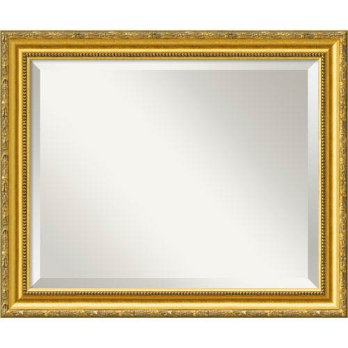 Amanti Art Colonial Embossed Gold Wall Mirror - Medium