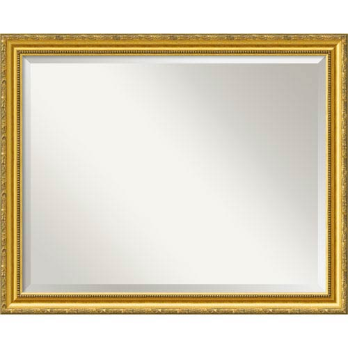 Amanti Art Colonial Embossed Gold Wall Mirror Large