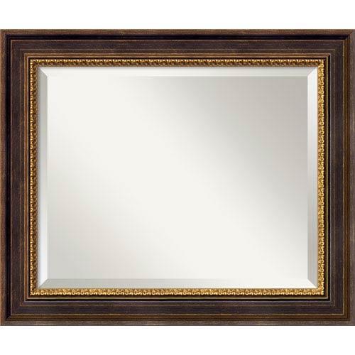 Amanti Art Veneto Distressed Black Wall Mirror - Medium