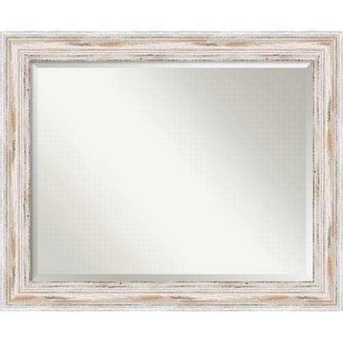 Amanti Art Alexandria Whitewash Wall Mirror Large