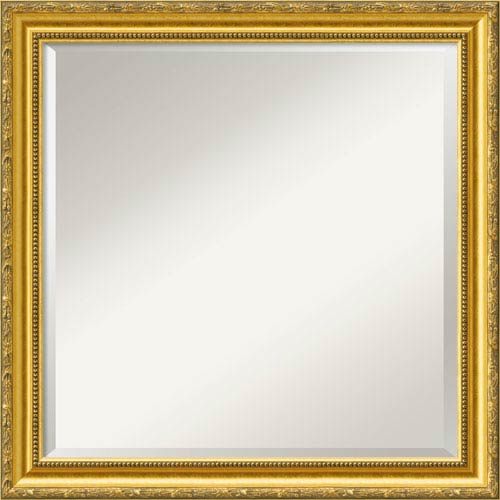 Colonial Embossed Gold Wall Mirror - Square
