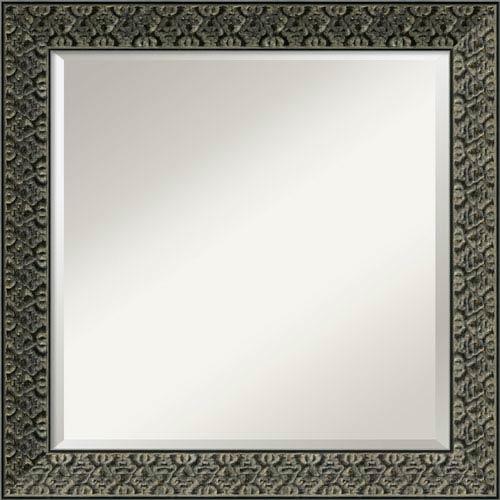 Intaglio Antique Black Wall Mirror - Square