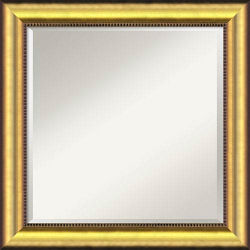 Amanti Art Vegas Burnished Gold Wall Mirror - Square