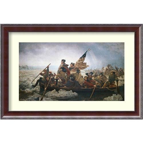 Washington Crossing the Delaware River by Emanuel Leutze: 32 x 22-Inch Framed Art Print