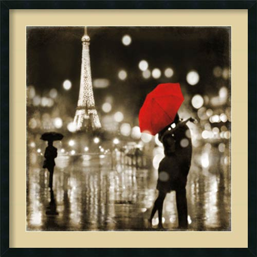 Amanti Art A Paris Kiss by Kate Carrigan: 34 x 34 Print Reproduction